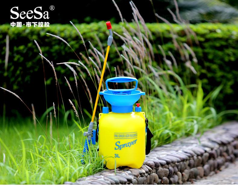小雨の月季市の下で札の小型の噴霧器の家庭の園芸は薬の壺を打って殺虫して消毒して包んで郵送します。