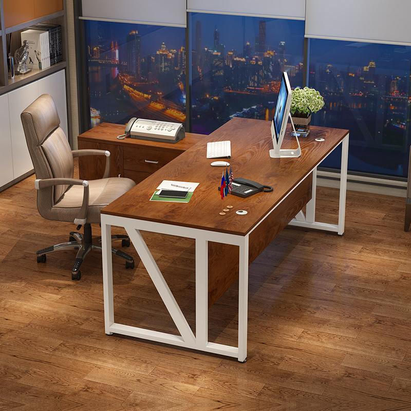 紫木林办公桌简约现代大班台时尚经理主管办公桌椅组合老板桌单人