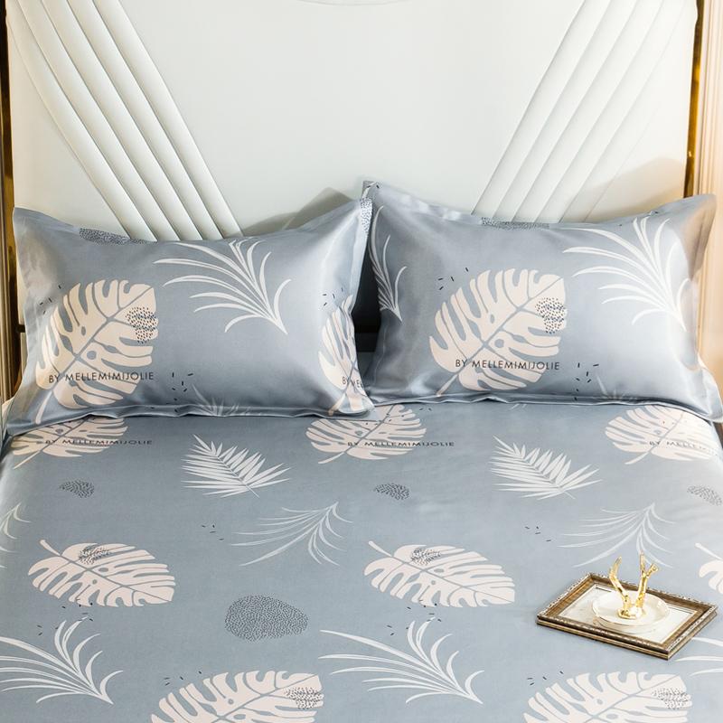 蔓琳阁夏季凉爽冰丝枕套一对装枕头套学生单人枕芯套48×74cm