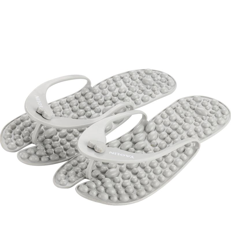 瑶琳按摩拖鞋便携旅行防滑折叠酒店超轻薄洗澡足疗穴位人字拖夏女