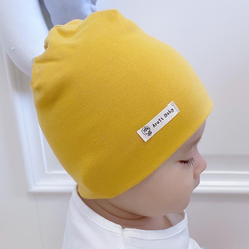 婴儿帽子秋冬春秋天婴幼儿男童0-3-6-12个月纯棉女宝宝新生2020年