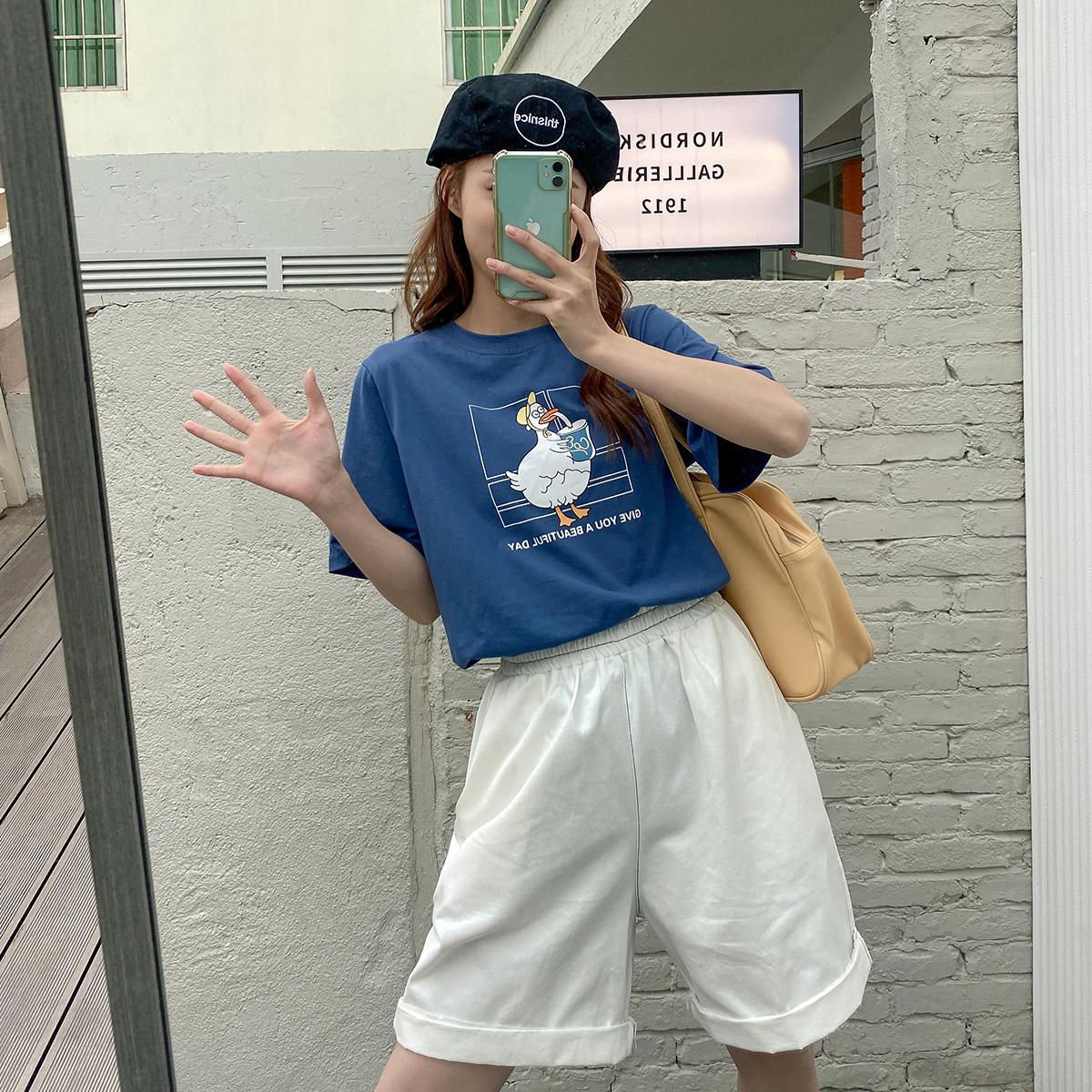 小草宽松定制胖mm夏季新款正肩t恤