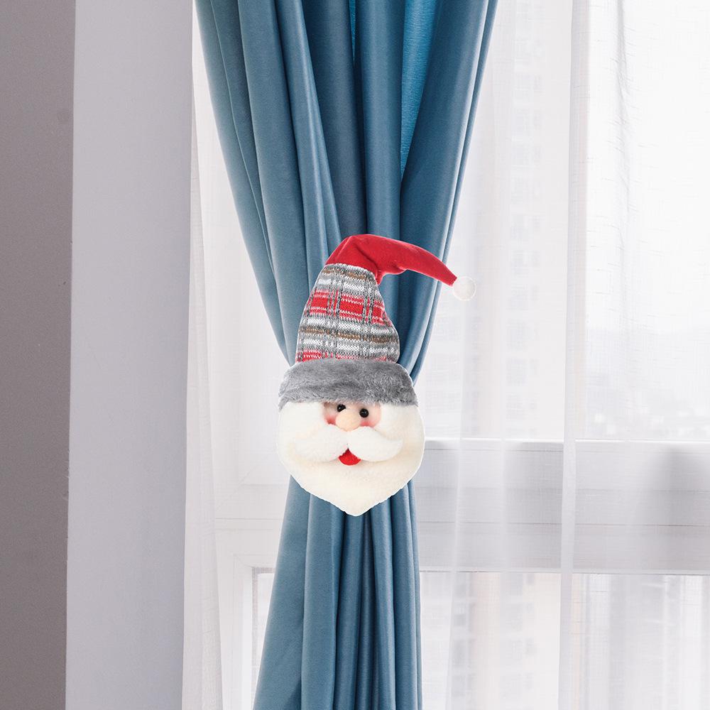 2018款圣诞节窗帘绑带扣扎束带绳子束带绑绳窗帘扣圣诞装饰品