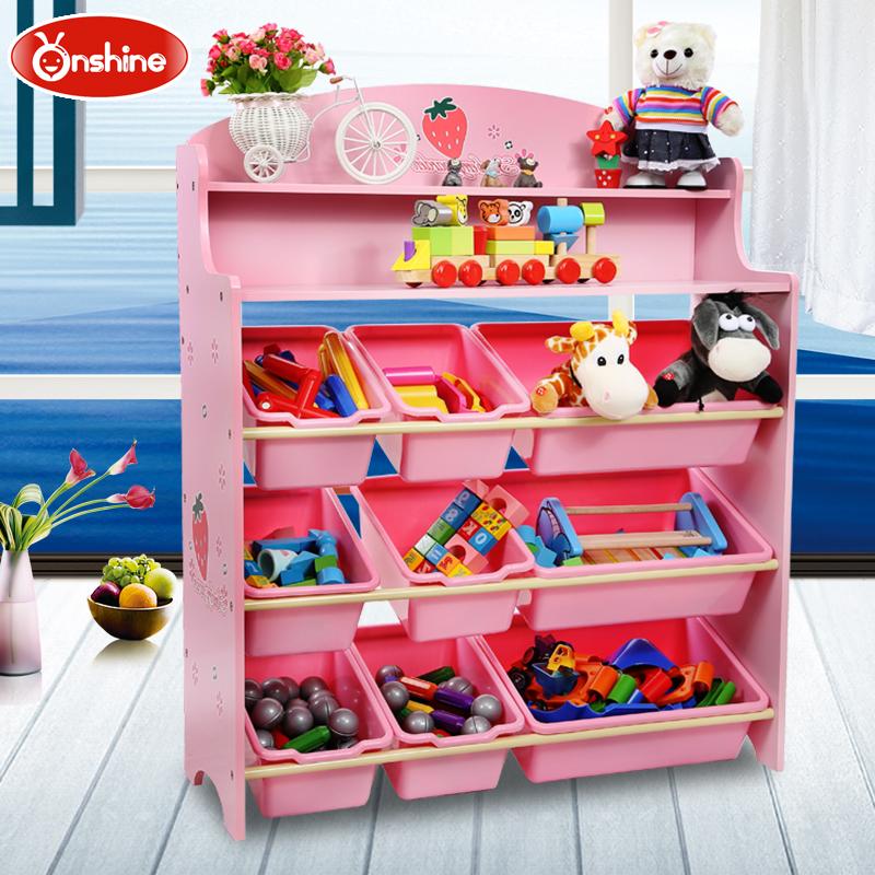 Ребенок игрушка хранение полка хранение кабинет ребенок детский сад книжная полка негабаритный многослойный дерево разбираться коробка для хранения ikea