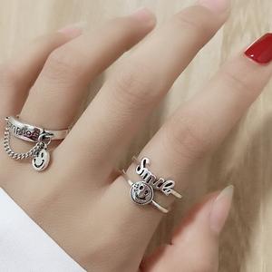 小众开口戒指时尚个性ins潮酷韩版简约复古指环网红蹦迪食指戒女