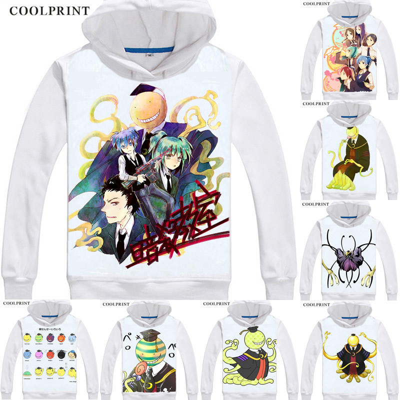 Assassinate classroom, kill super speed teacher, kill class E Chaotian Zhu Hoodie sweater Japanese printed Hoodie Pullover