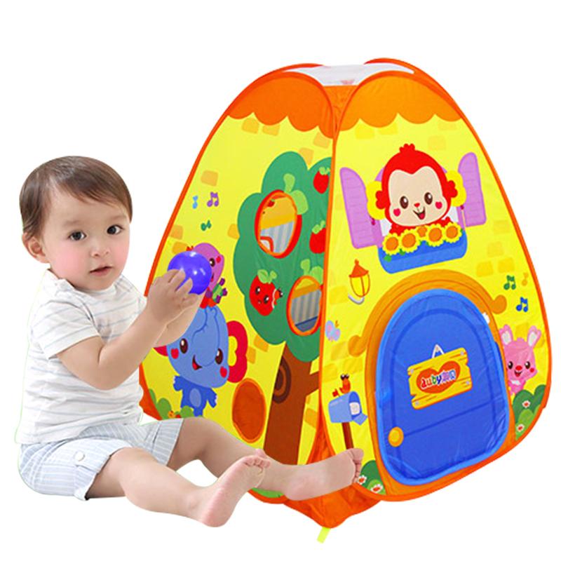 新品澳貝奇妙遊戲屋嬰兒童室內帳篷寶寶波波海洋球池奧貝小孩玩具