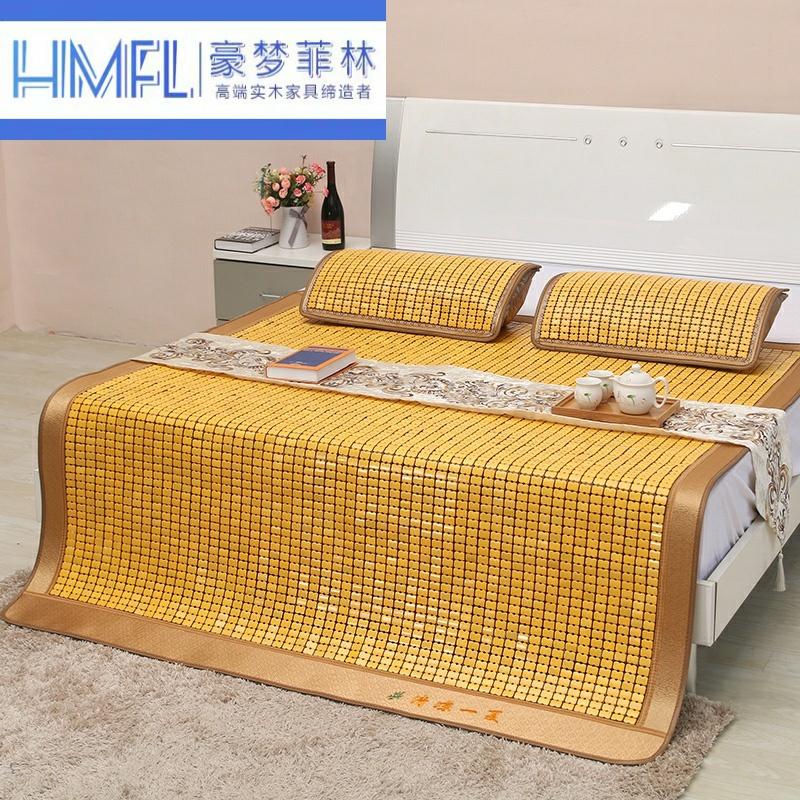 Xia Liangxi gấp mạt chược sinh viên carbon mạt chược thảm đơn tre đôi 1,5 mét 1,8m giường mat - Thảm mùa hè