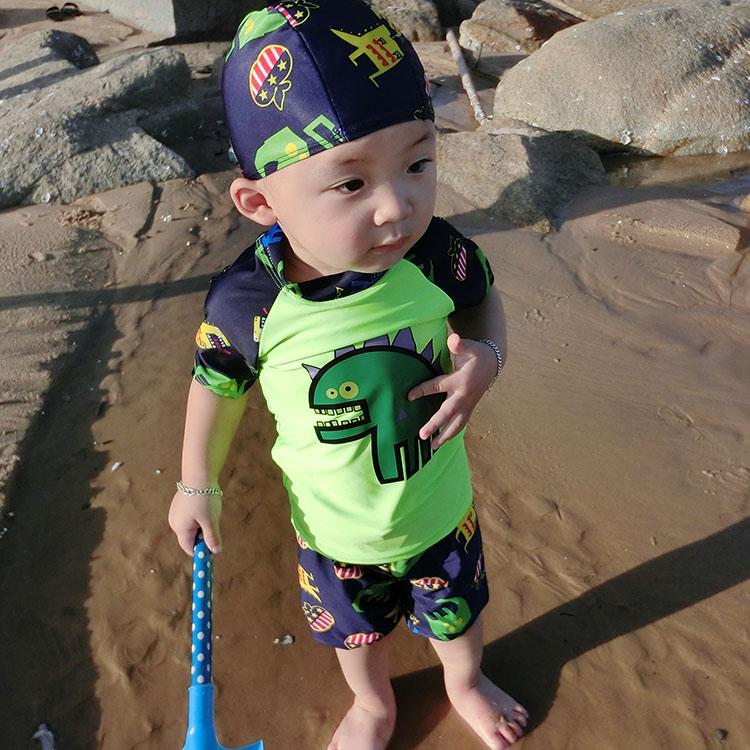 10-11新券婴儿泳裤0-3游泳馆专用婴幼儿童泳衣防水防漏小男童男宝宝1岁2