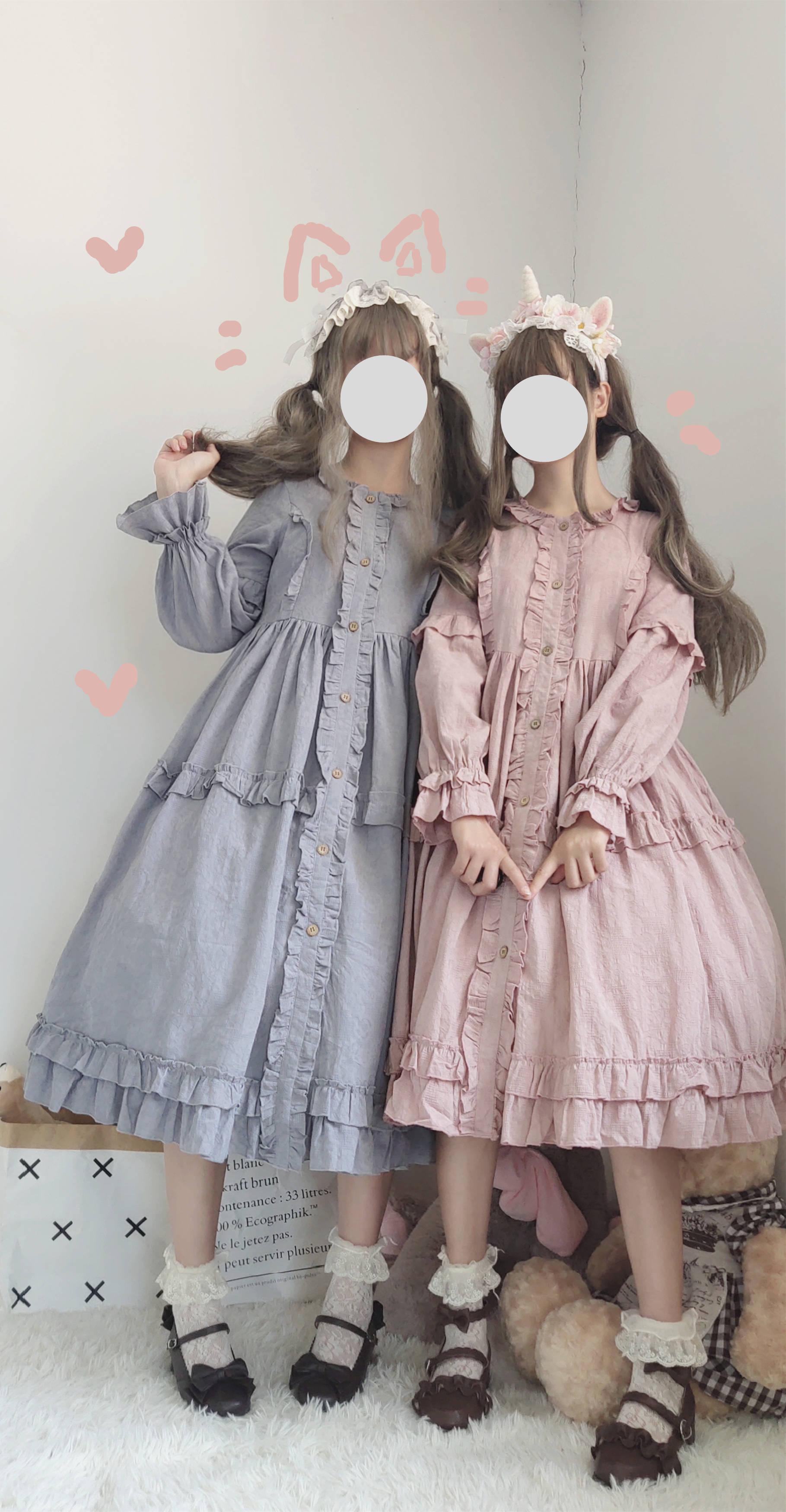 [original by Chaolu] Miss Wulian national brand original Lolita solid color OP skirt