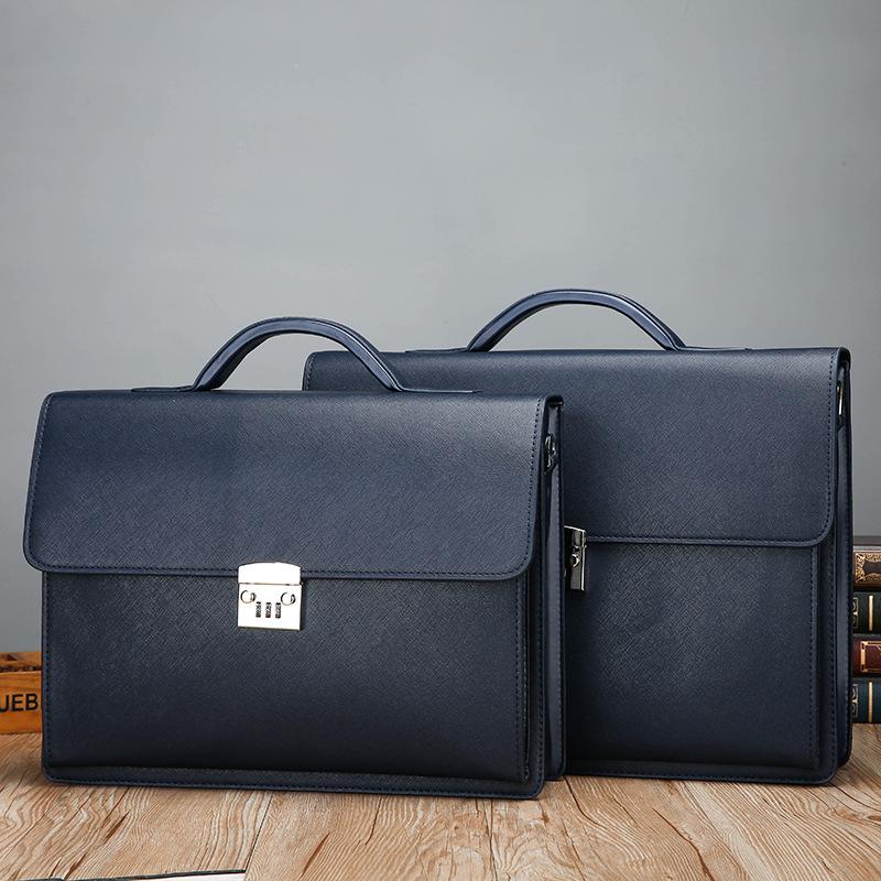新款男包商务公文包密码锁单肩手提包15.6寸包男士电脑包