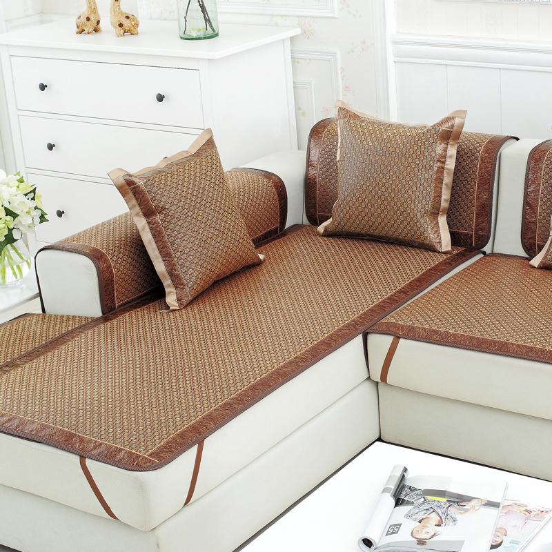 Лето коврик подушки на диване прохладно летом подушка шелк льда ротанга скольжение подушка ткань виноградная лоза бамбук диван крышка диван полотенце специальное предложение