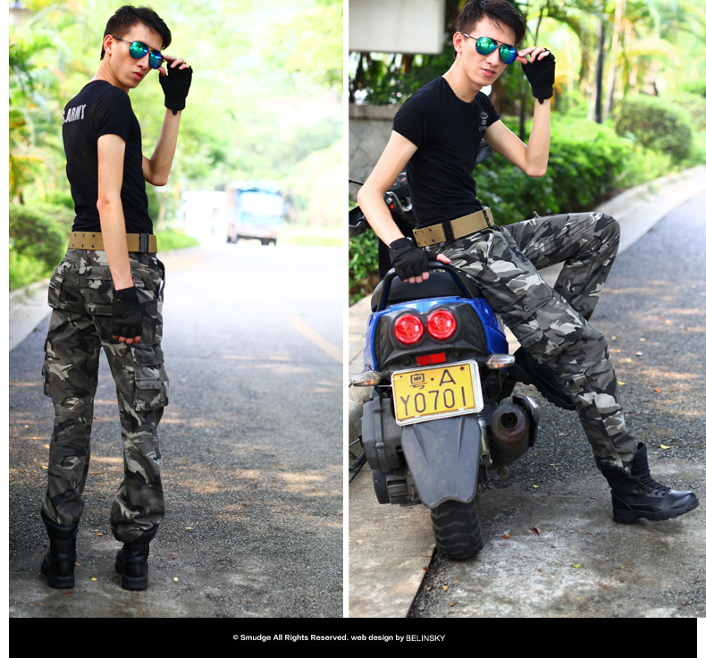 Special forces multi pocket spring and autumn winter casual camouflage pants mens army fan pants loose mens outdoor sports pants