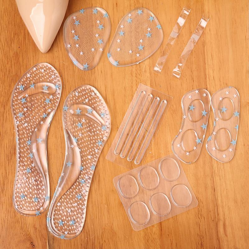 高跟鞋伴侣6件套防滑鞋垫硅胶前掌垫防磨脚不跟脚女士7分垫后跟贴
