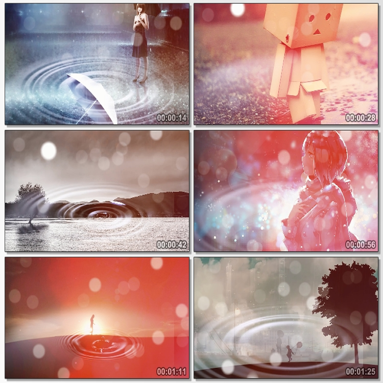 Song cloudy day sad love song lovelorn breakup LED large screen party stage background video material