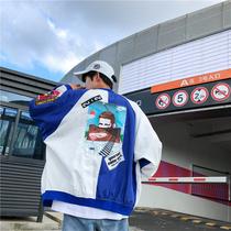 飞行员夹克男韩版潮流bf学院风超宽松棒球服夏季学生ulzzang外套