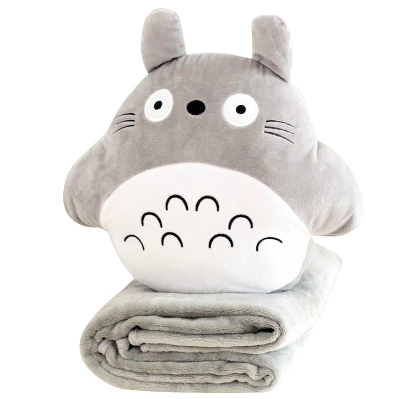 龍貓公仔暖手抱枕捂手枕被子兩用暖手捂手筒插手枕可愛毛絨萌懶人