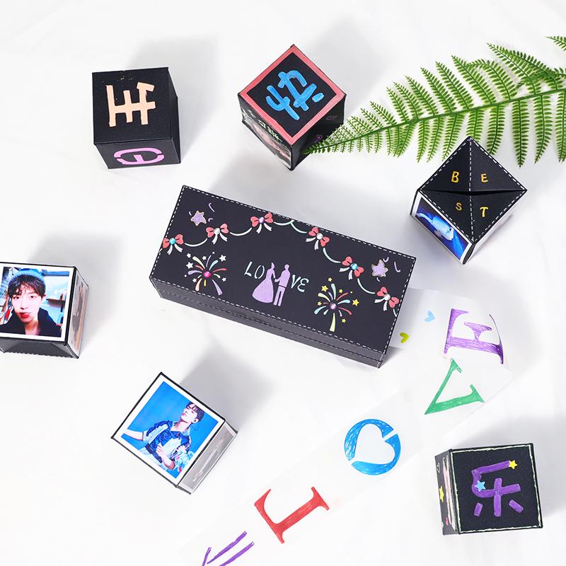抽拉弹跳礼物盒弹跳母亲节惊喜盒子创意生日520情人节送女生男友图片