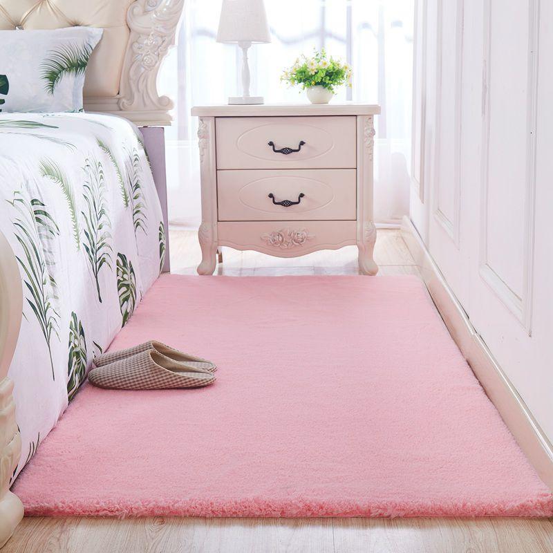 毛绒地毯客厅卧室房间女生粉色公主少女可长方形满铺可爱床边地毯