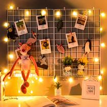 铁艺网格照片墙置物架ins网红少女心格子墙房间布置宿舍卧室装饰