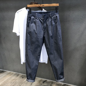夏季2021新款潮牌牛仔男士子休闲裤