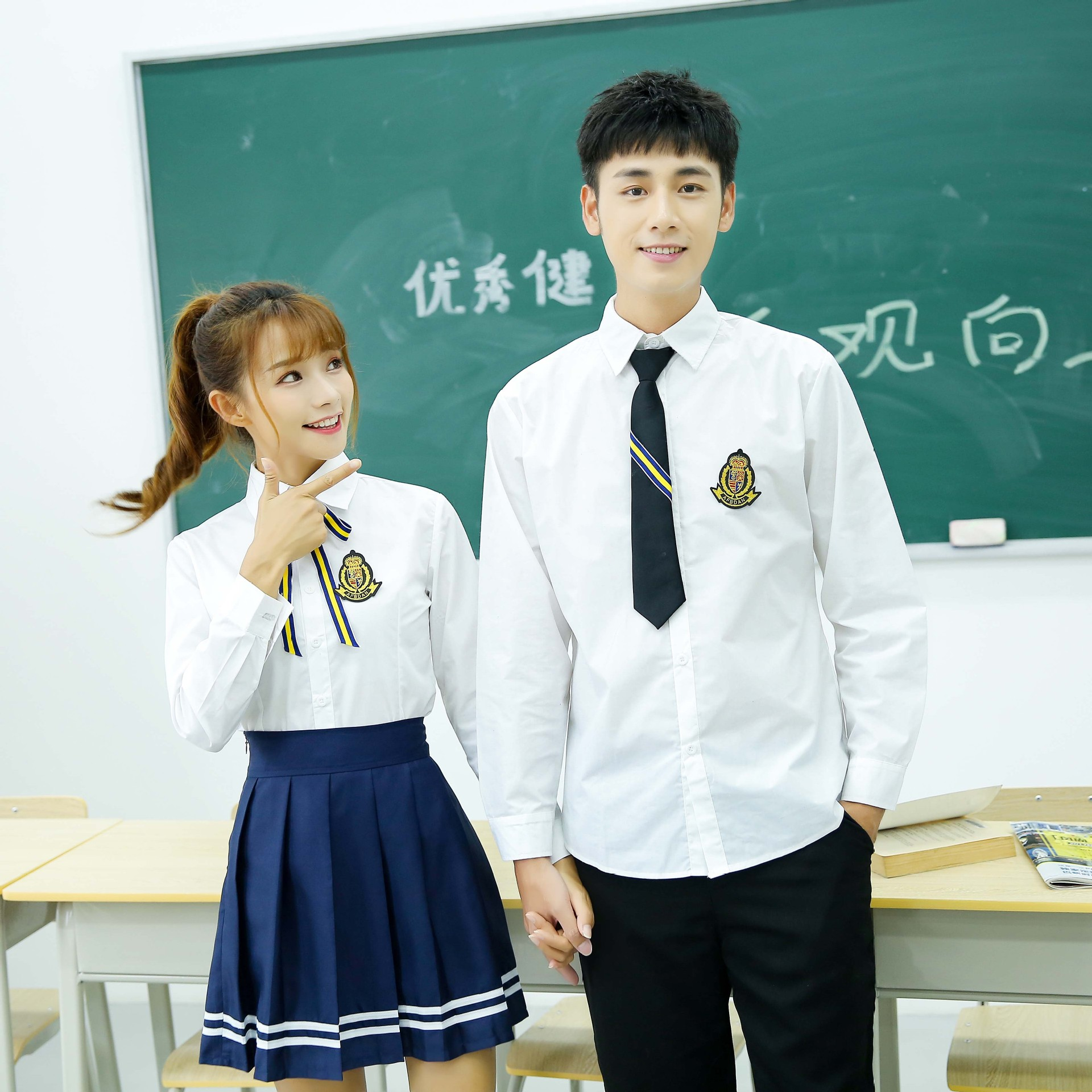 Spring new British college Fengchu high school student uniform graduation class uniform JK uniform shirt suit overalls