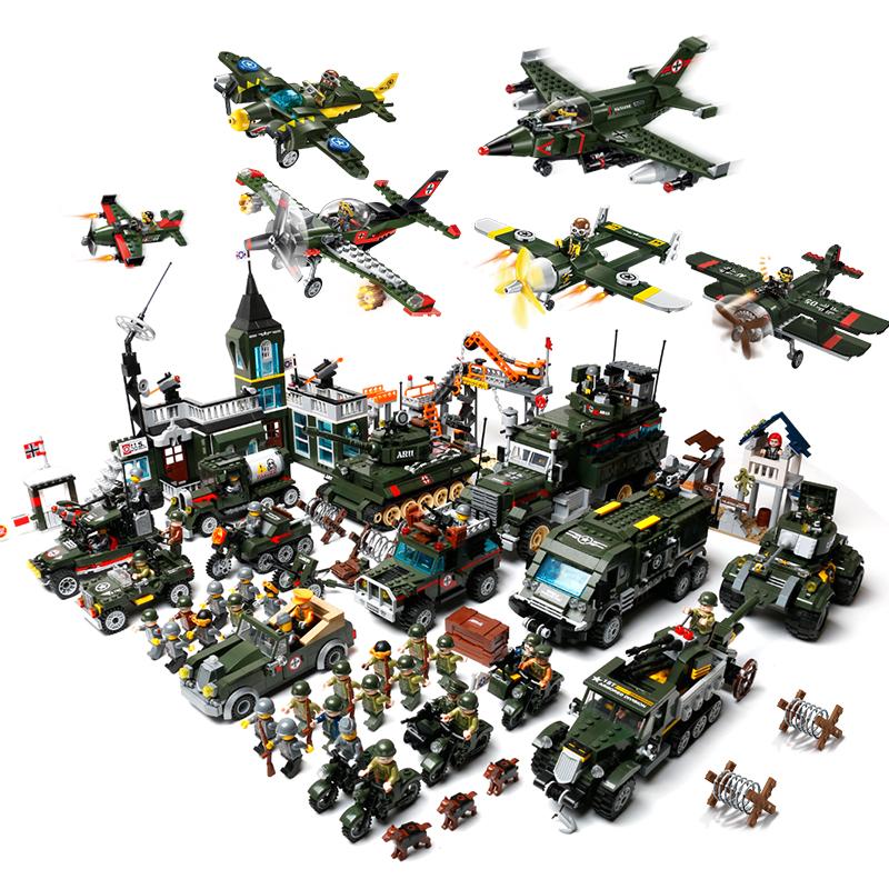 啟蒙積木軍事 拚裝玩具男孩兒童益智組裝坦克6~8歲10生日