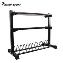 Studio Drug ball Storage rack kettle Bell Frame dumbbell frame barbell rack Wall ball frame three-layer multifunctional storage rack