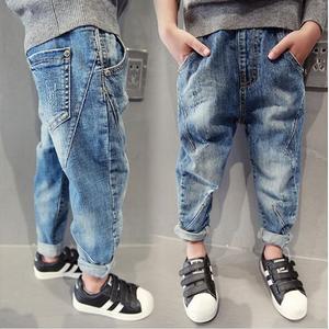 男童裤子2021春夏新款韩版潮童装中大童宽松休闲浅色洋气牛仔裤薄