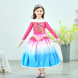 儿童睡美人爱洛公主裙子女童连衣裙冰雪奇缘小女孩蓬蓬纱洋气礼服