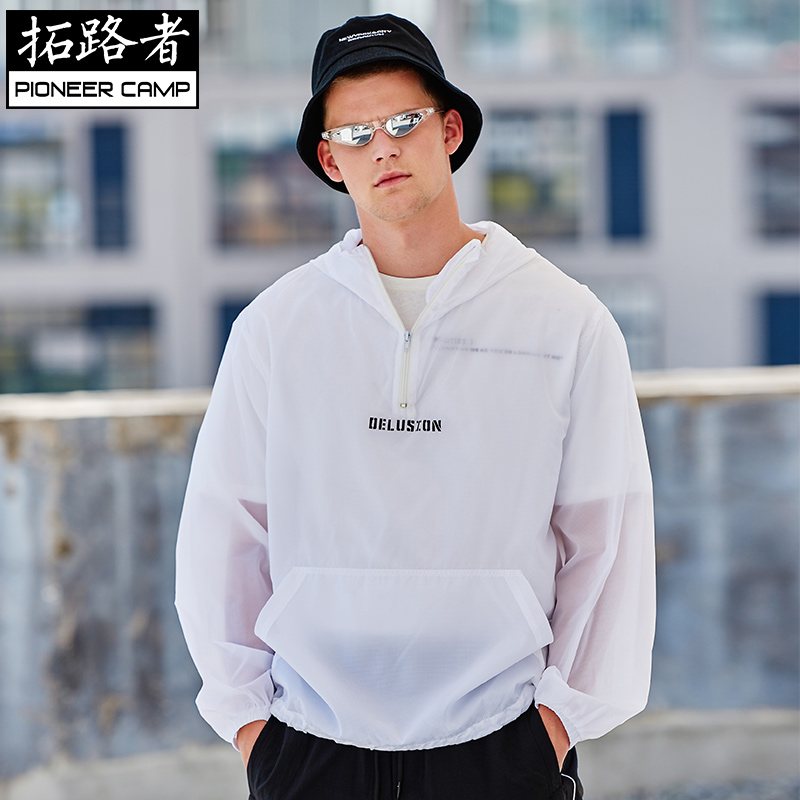 Toread sunscreen mens summer thin loose Pullover Hooded Jacket sunscreen clothing new trend