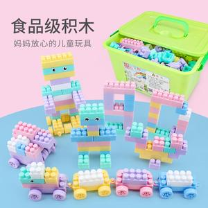 领5元券购买益智小大颗粒幼儿园男孩拼装玩具