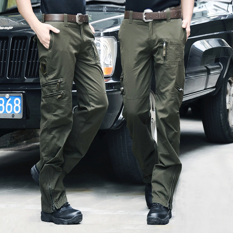 秋冬户外军装男女特种兵战术裤耐磨多口袋军裤宽松军迷帆布作训裤