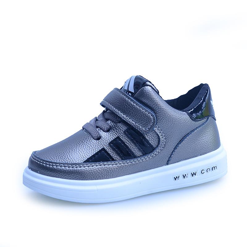 兒童 鞋女童鞋  鞋高幫男童板鞋潮中大童學生小白鞋