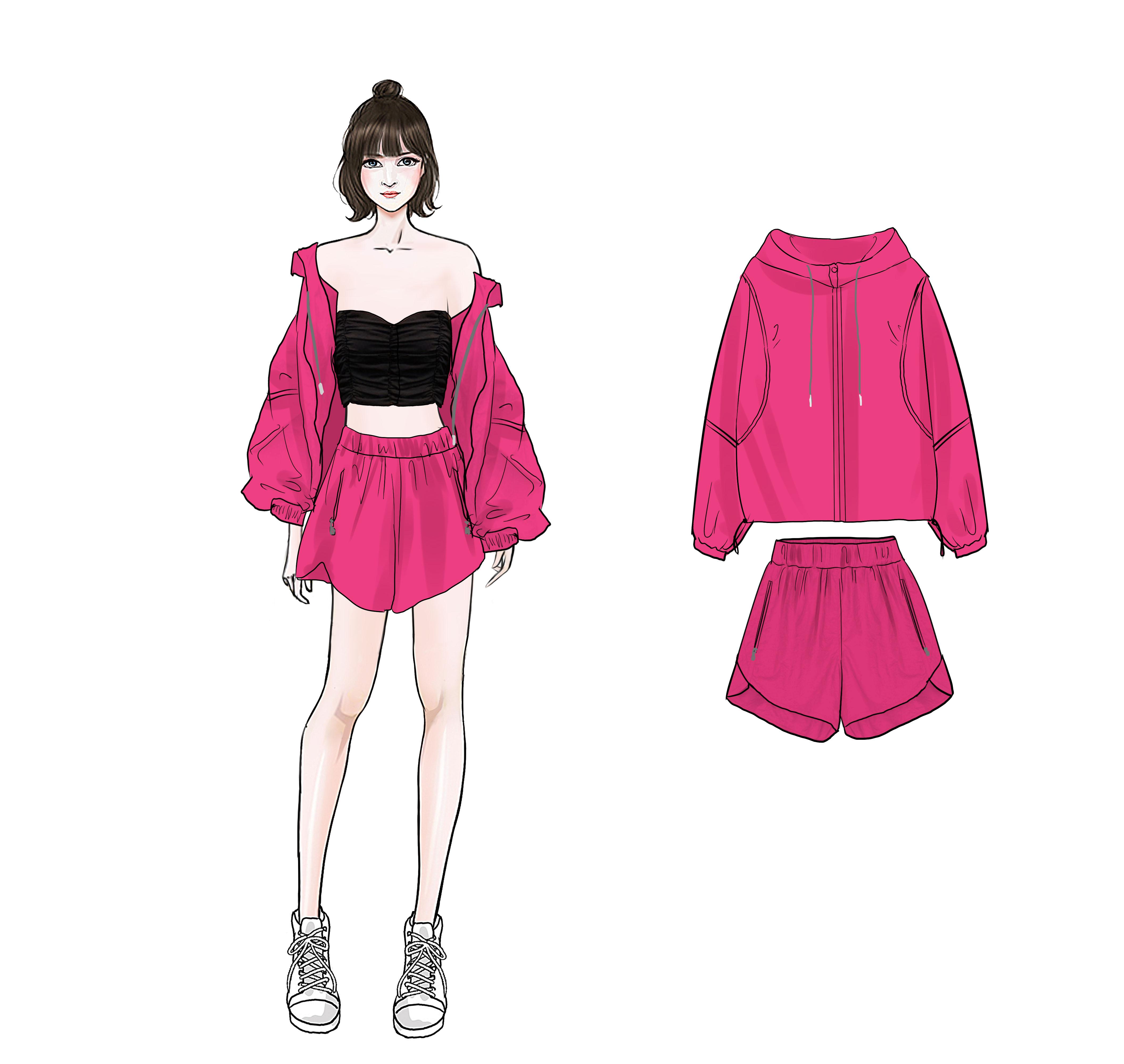 便宜15 SuSu 运动风休闲套装女2020夏款显瘦遮肉宽松短裤防晒套装