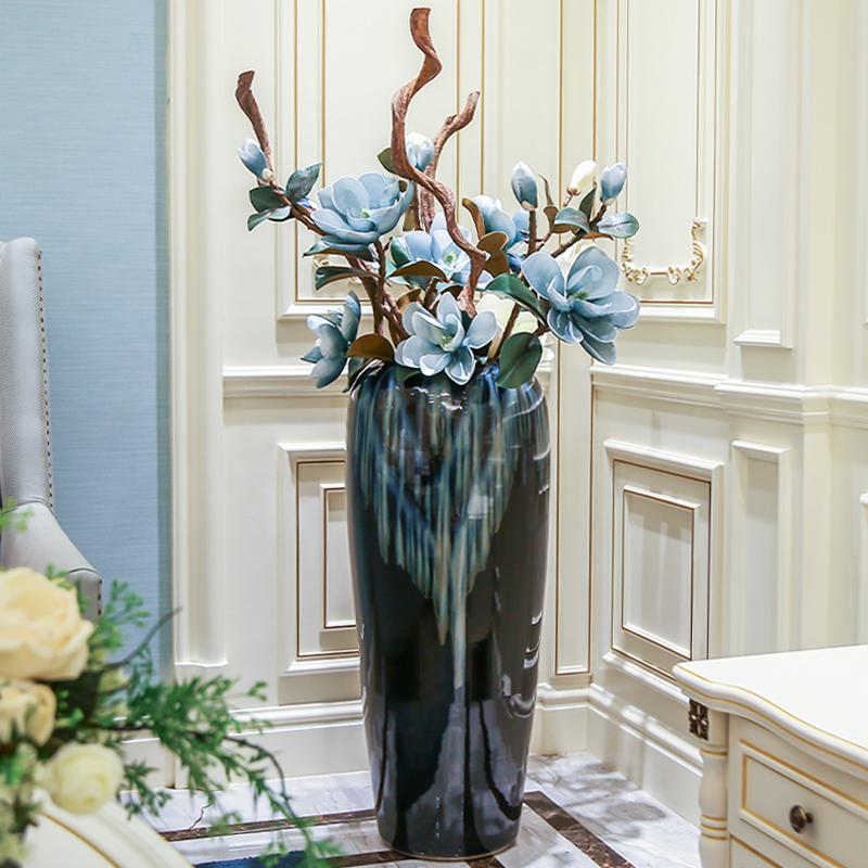 现代简约景德镇摆件客厅落地大花瓶使用评测分享