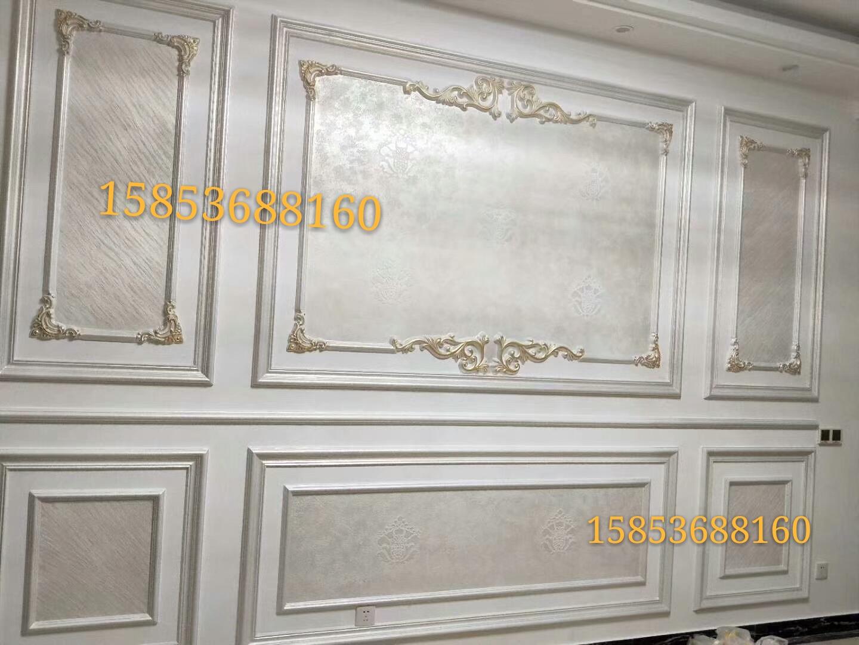 欧式石膏线条背景墙罗马柱角花浮雕圆弧来样定制背景墙框