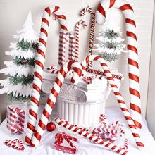 Рождественские украшения Красный и белый тростник 15 см до 90см окрашены на окрашенные тростниковые квадратные студии праздничные праздничные принадлежности