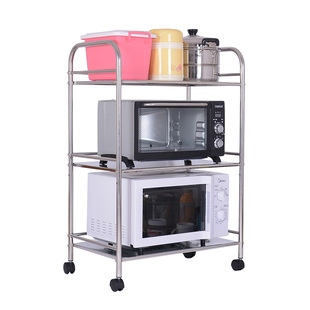 特价304不锈钢厨房锅架落地置物架