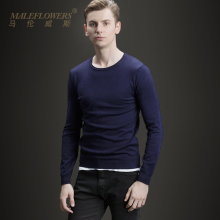 Maleflowers / malenwis fall slim round neck sweater men's T-shirt slim long sleeve pullover Z06