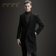 Male long single breasted Lapel coat