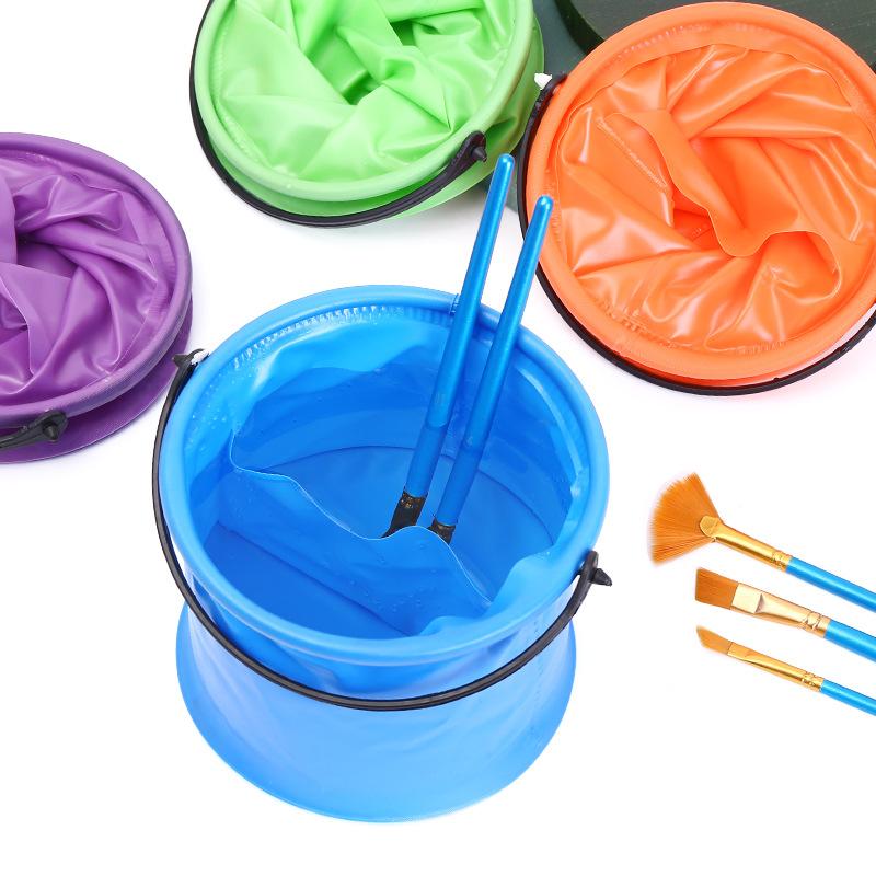 多功能便携式折叠伸缩水桶 绘画美术毛笔书法洗笔水筒