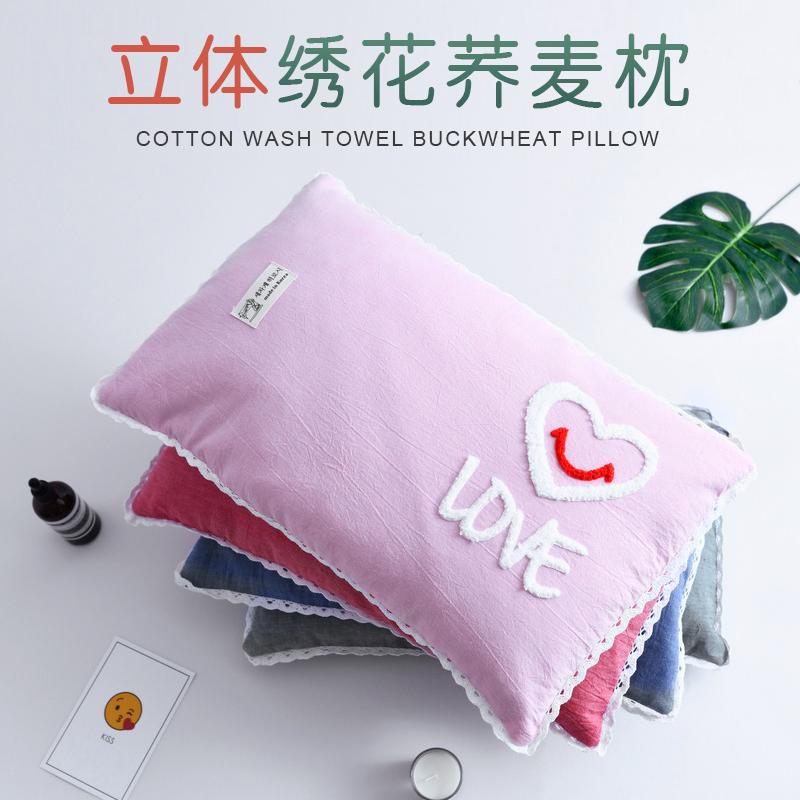 儿童荞麦壳枕头水洗棉乔麦枕头好用吗