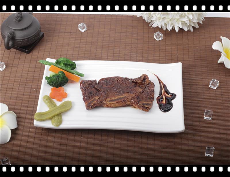 仿真假西餐黑椒牛排牛肋排食品模型厨窗展示假道具