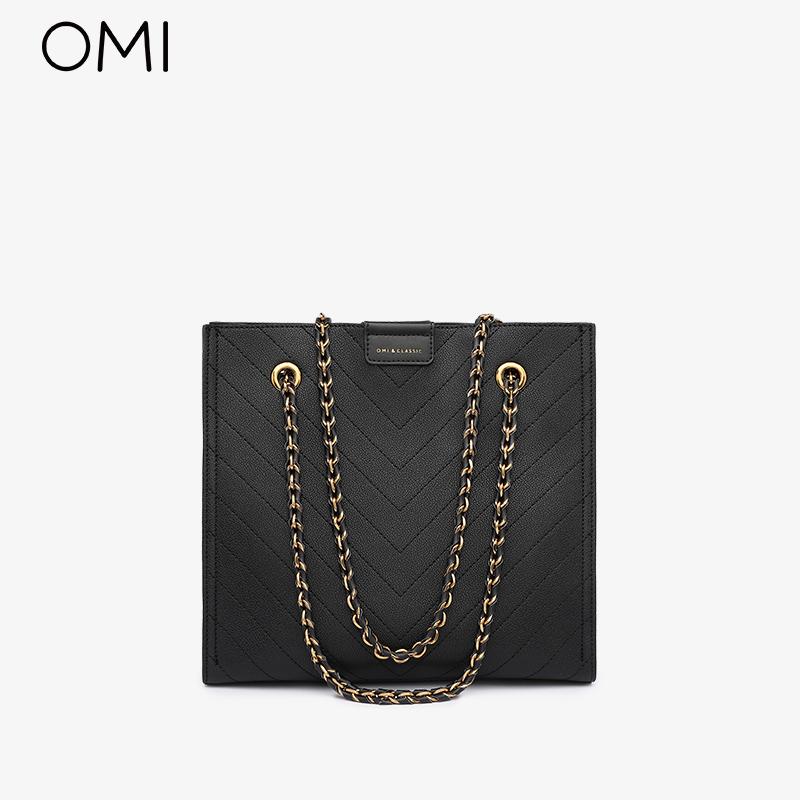 欧米OMI包包女包2020新款潮托特包链条网红斜挎经典大容量单肩包