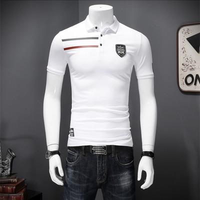 常年做 时尚修身 简约条纹 韩版丝光棉POLO衫 L022-P70控价98