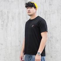 170-330斤壮男胖版型短袖男大码简约印花肥仔T恤加肥加大嘻哈体恤
