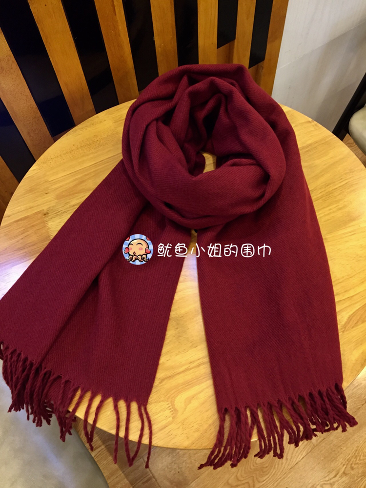 Temperament wine scarves winter girlfriends gifts show white soft neck imitation cashmere solid color annual meeting warm thickening