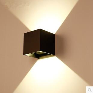 室外防水双头壁灯柱子外墙调光阳台走廊过道楼梯灯创意简约灯LED