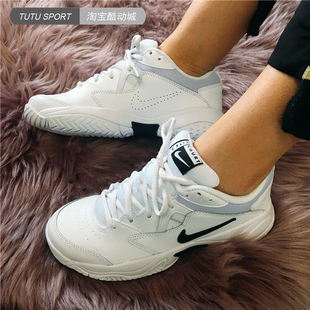 Nike Court Lite 2 Hard Court 女子白黑老爹鞋网球鞋 AR8838-100图片